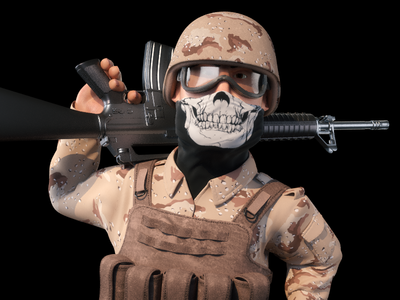 Infantry Soldier 3d Character