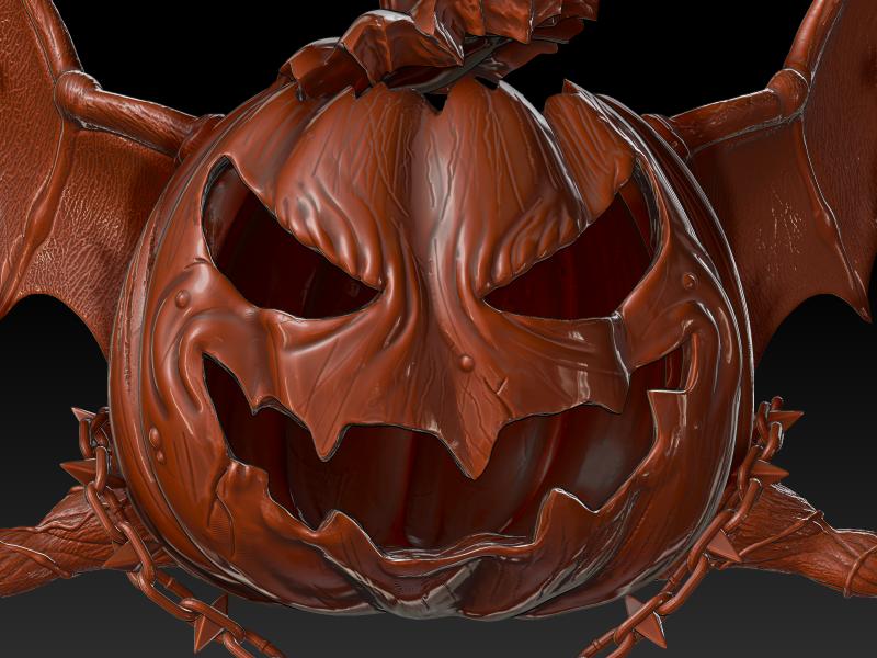 50 Seeds 3d artist zbrush character designer pumpkin halloween 3d character freelance 3d character cartoony character game characters 3d
