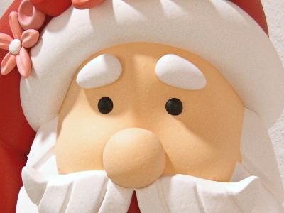 3D Santa decoration santa clause christmas stocking xmas festive happy merry 3d v-ray oasim santa christmas decoration