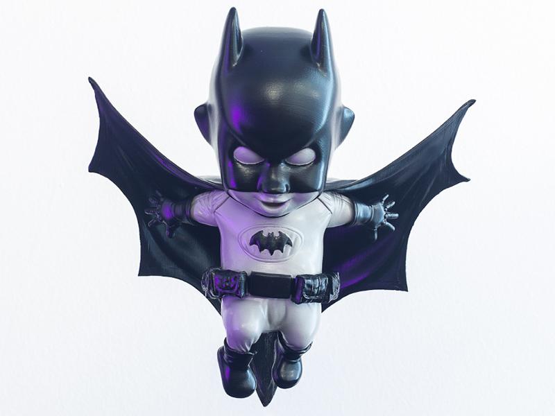 Batsy oasim character design figurine toy design chibi batman fan art batman 3d print 3d artist