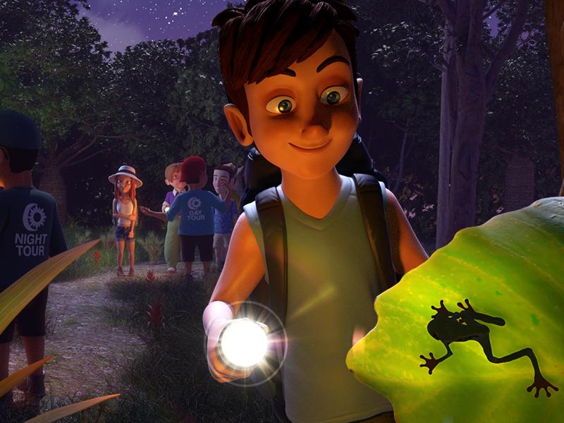 Costarica Zack's Journey 3d illustration 3d artist oasim 3d environment 3d character day meets night kids book ipad book 3d kids book