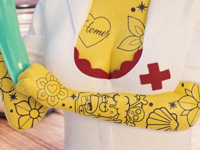 Marge Nurse Toy Design
