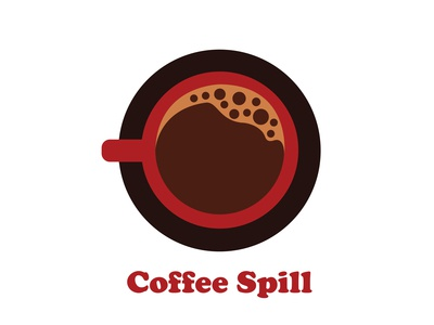 """Coffee Spill"" - logo and name design (full branding)"