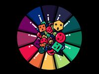 """Rainbow Smiley Faces"" - Vector Illustration"