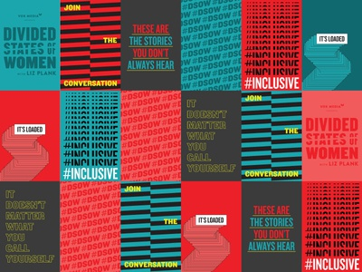 Divided States of Women Launch posters typography