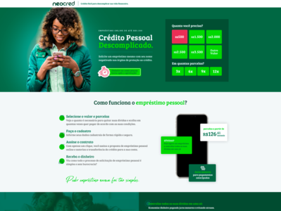 Financial Company - Landing page