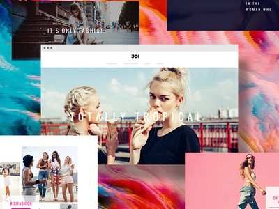 Joi one page webdesign layout website wordpress branding