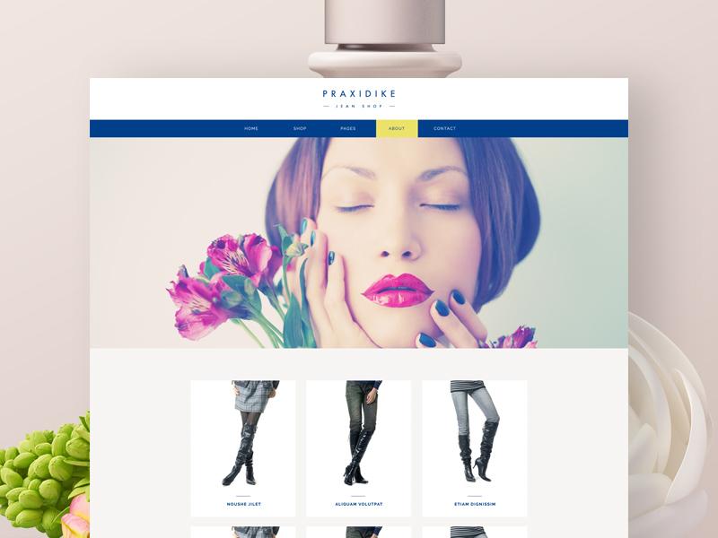 Praxidike  online store wordpress template ecommerce