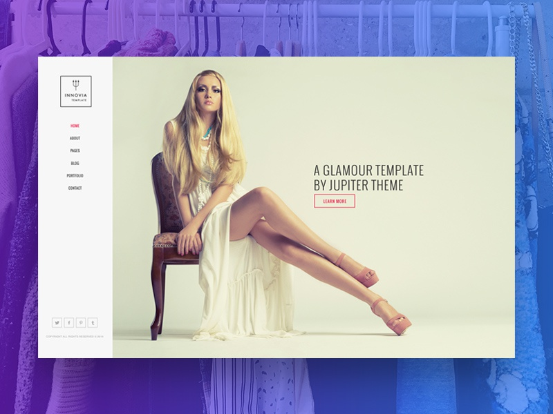 Ganymede  wordpress template fashion designer photography