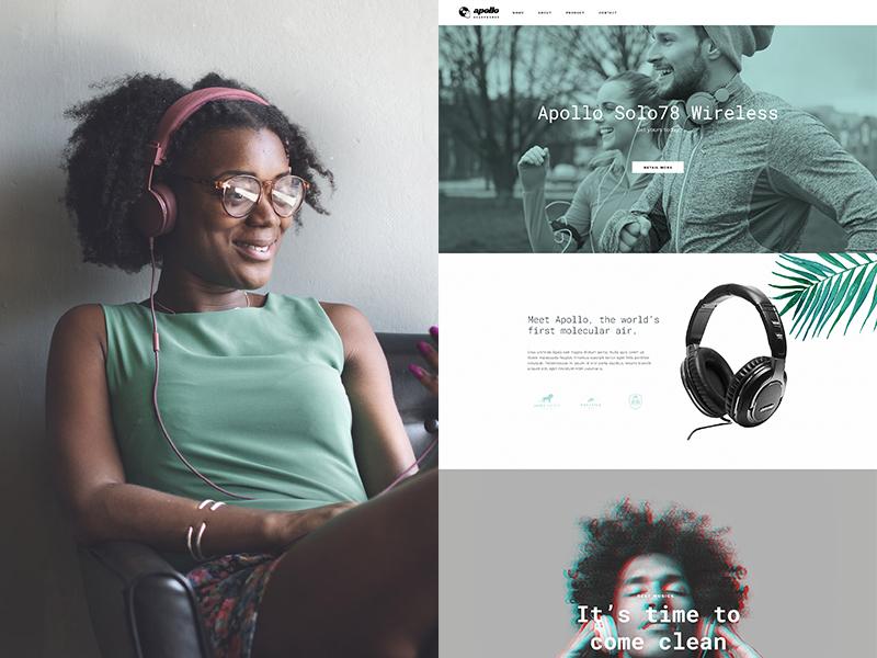 Apollo headphones jupiter theme wordpress template music