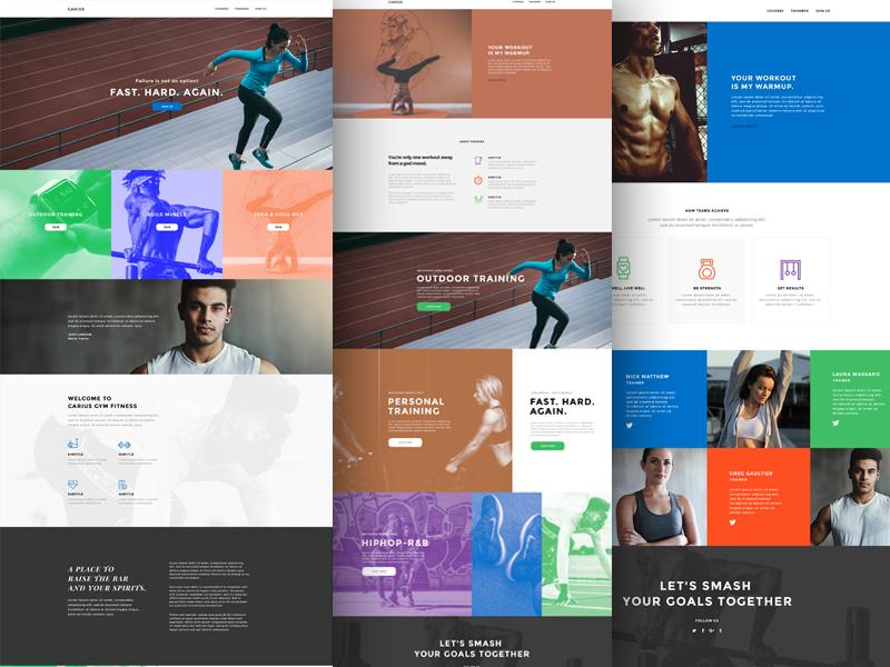 Carius wordpress template business fitness athletic health