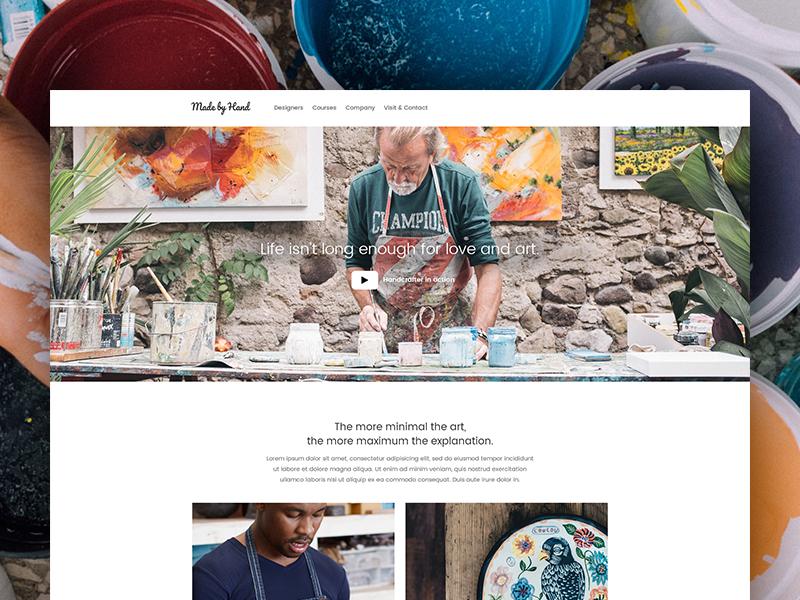 Ikmaios wordpress template rustic workshops ceramic pottery