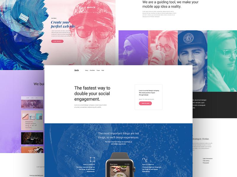 Lovis wordpress template branding creative design marketing