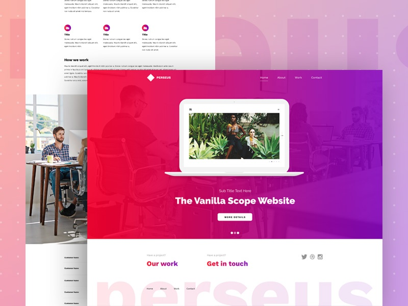 Perseus wordpress template web design design agency advertising