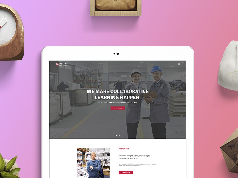 Aglaea wordpress templates multi-page template print company