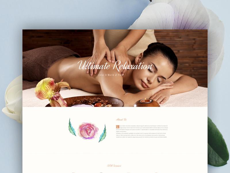 Thelxinoe wordpress template peaceful health wellness tranquility