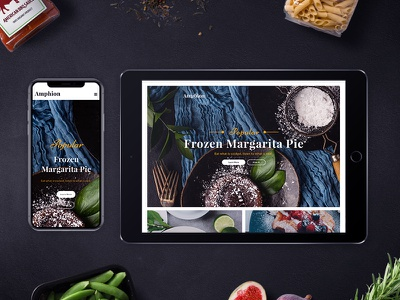 Amphion wordpress template restaurant portfolio recipe food culinary