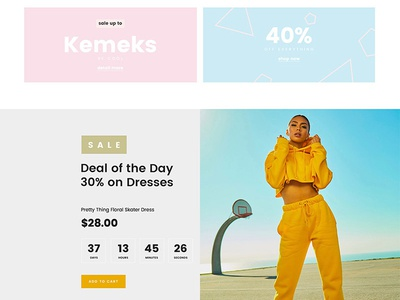 Free Fashion Shop PSD Template Giveaway