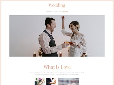 Free Wedding PSD Template Giveaway