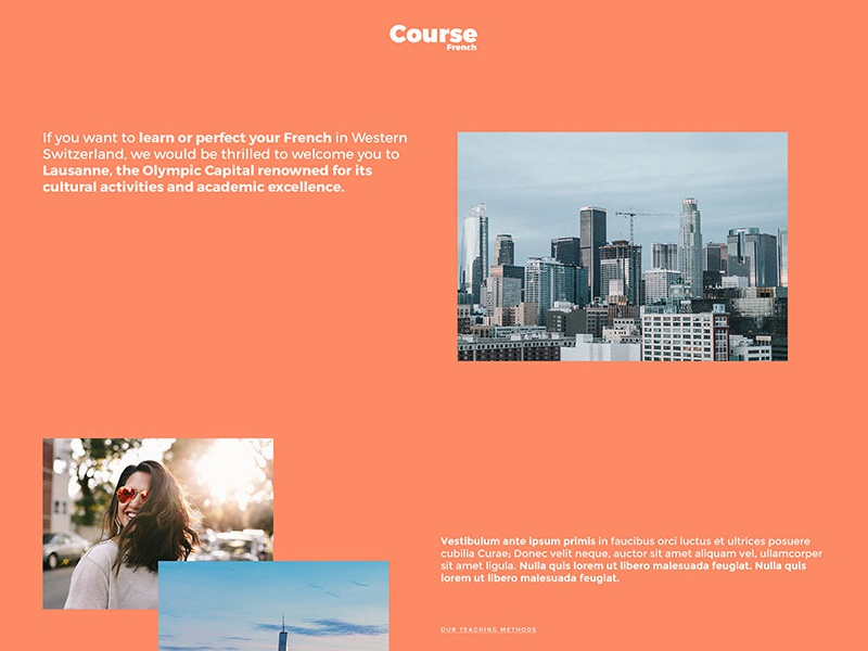 Free Course Webpage PSD Template Giveaway psd giveaway wordpress template webdesign website template wordpress course