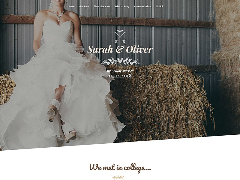 Free Wedding Webpage PSD Template Giveaway wedding giveaway wordpress template webdesign website template wordpress