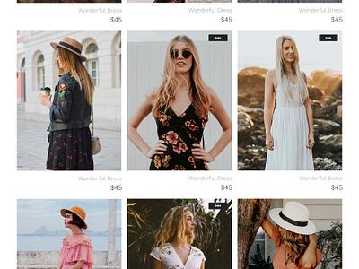 Free Dress Shop Webpage PSD Template Giveaway fashion dressshop online shop giveaway shop wordpress template webdesign website template wordpress