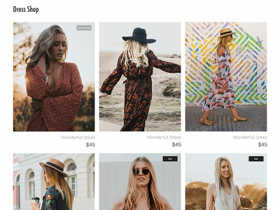 Free Dress Shop Webpage PSD Template Giveaway fashion dressshop online shop giveaway shop wordpress template webdesign website template wordpress