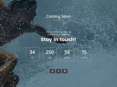 Free Coming Soon Webpage PSD Template Giveaway free template artbees jupiter design business giveaway wordpress template webdesign website template wordpress