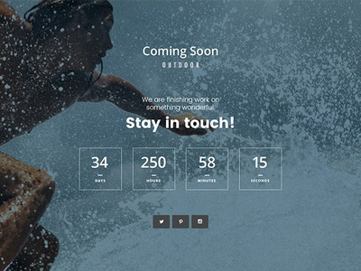 Free Coming Soon Webpage PSD Template Giveaway