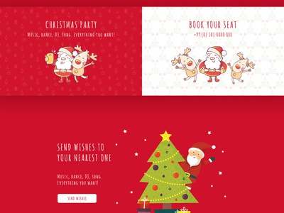 Free Holiday Webpage PSD Template Giveaway jupiterwptheme artbees design one page layout giveaway wordpress template webdesign website template wordpress christmas 2019 holiday card holiday