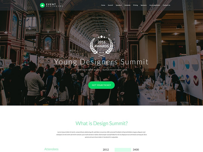 Free Event PSD Website Template psd templates jupiter x free template one page design business layout giveaway wordpress template webdesign website template wordpress