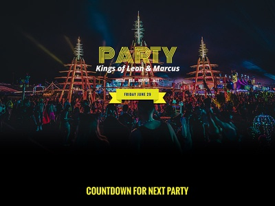 Free Party PSD Website Template