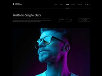 Photo studio website template photography branding dark photos portfolio studio photography layout wordpress template website webdesign template wordpress