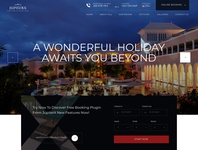 Luxury hotel website template ui wordpress template hotel booking business sleek luxury hotel webdesign template website wordpress