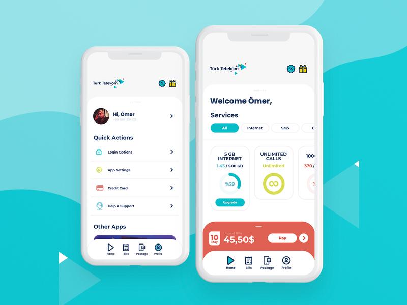 Türk Telekom Mobile App Redesign
