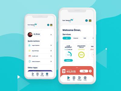 Türk Telekom Mobile App Redesign xd photoshop mobile graphic design app ui ux interface application