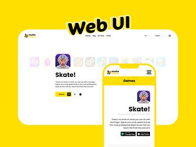 Studio Billion Website UI xd photoshop mobile graphic design app ux ui interface application