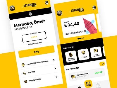 Istanbulkart Mobile App UI redesign istanbul ibb istanbulkart mobile graphic design ux ui interface application app