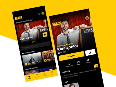 Exxen Video Streaming App UI redesign exxen photoshop mobile graphic design ux ui interface application app