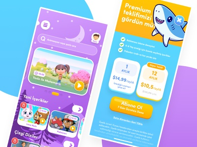 Kid Video Streaming Concept App UI photoshop mobile budget graphic design ux ui interface application app
