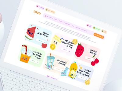 Juice Token Web UI crypto token juice design ux ui interface application app