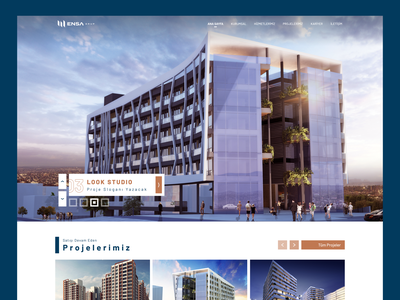 Company Group Landpage holding group structure building design ux interface branding graphic design ui