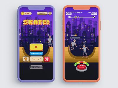 Skate! Mobile Game UI icon mobile logo art app animation ux graphic design application ui photoshop interface
