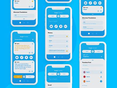 Google Translate App Redesign xd photoshop mobile graphic design app ux ui interface application