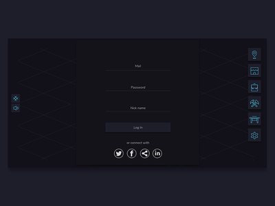 UI Log In screen and In game screen clean app design clean available graphic design game art log-in ui set game user interface design uidesign ui log in scree