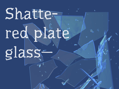 Shattered Plate Glass