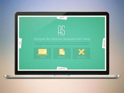 Personal site design concept web design website concept flat ui