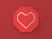 Heart polygon icon