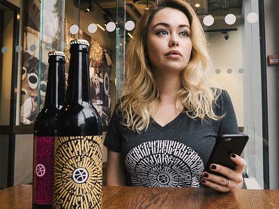 Moscow Dribbble Meetup 2016: Merchandise calligraphy beer t-shirt merchandise dribbble meetup meetup