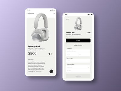 Beoplay Concept concept ui minimal app design